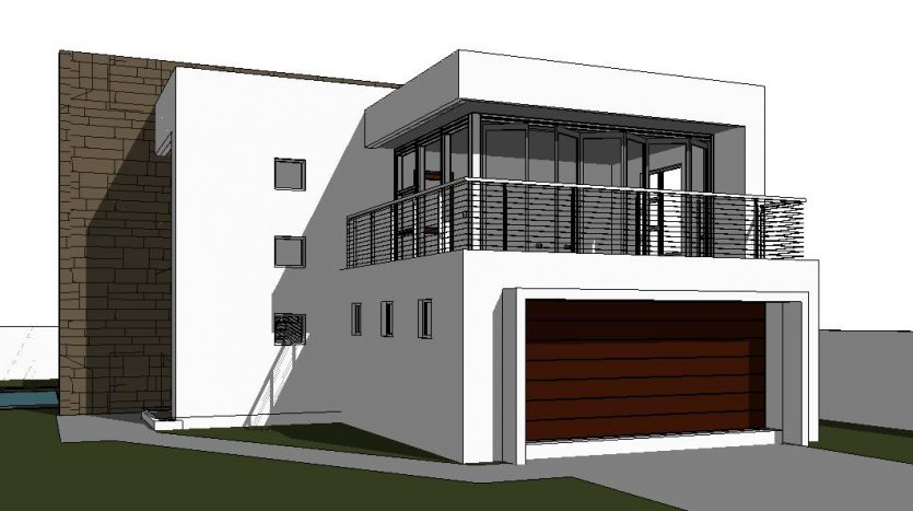 Modern 2 storey house design 3 bedroom house plan - How much to build a 4 bedroom house ...