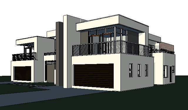 Stunning home design modern house plan with a gym for House plans with pictures and cost to build