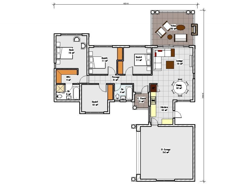 T189 nethouseplansnethouseplans for 2 bedroom ground floor plan