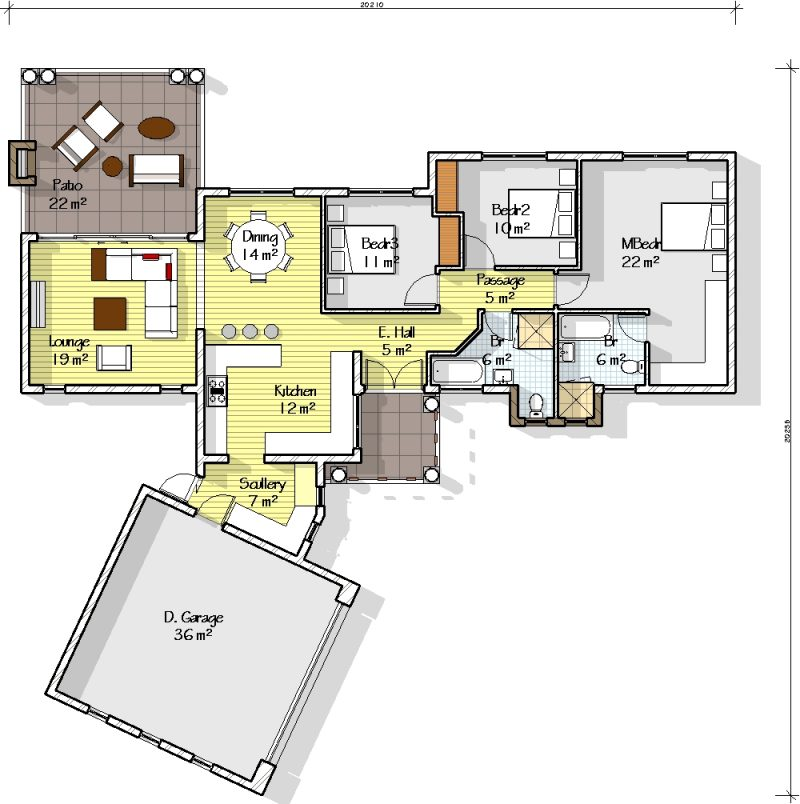 Architectural designs south africa plan t207s net house Bali house designs floor plans