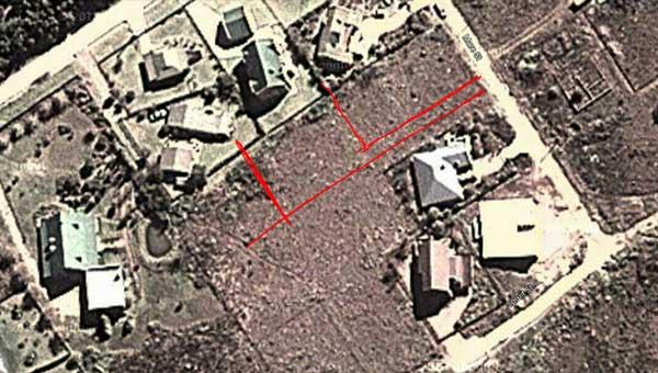 Site plan for house plans, Nethouseplans SA