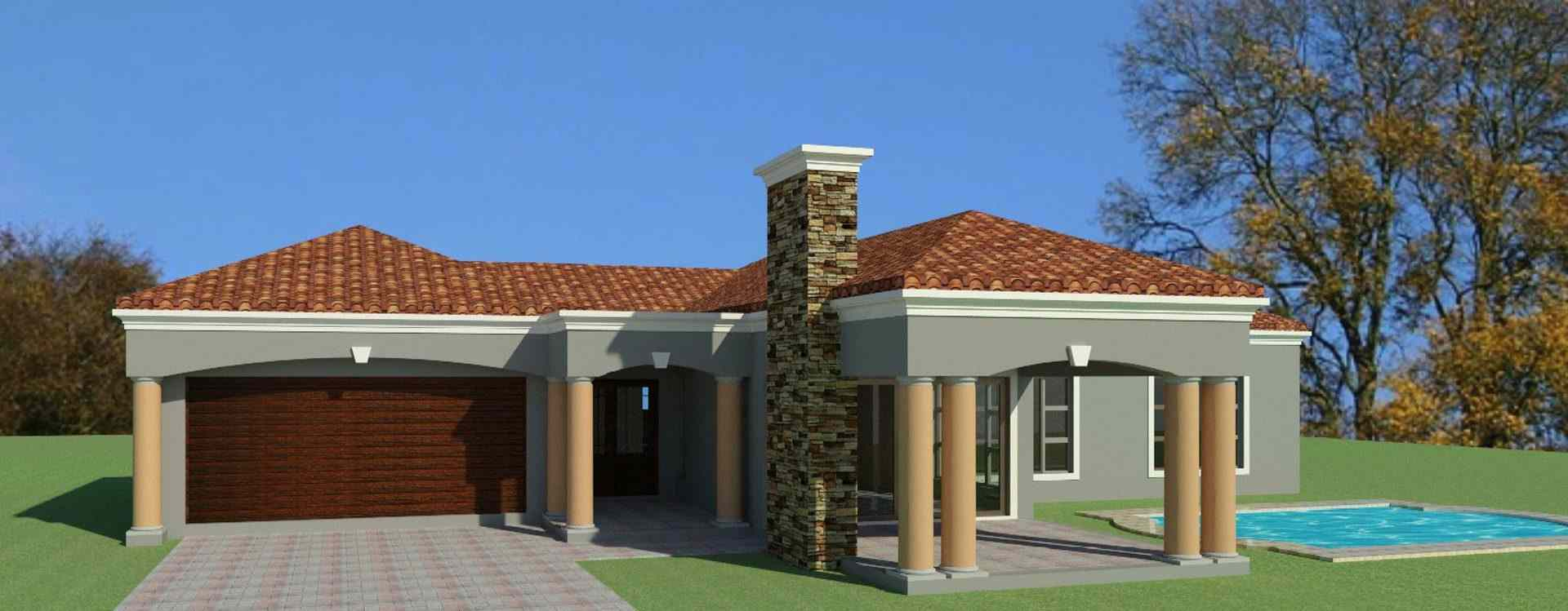 3 bedroom house plan design in south africa single storey house plan design tuscan